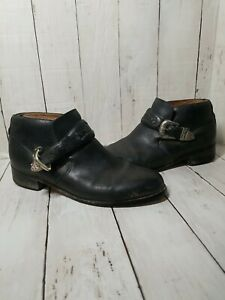 Ariat Blair Leather Western Buckle Black Bootie 16401 Size 9B