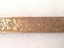 "VINTAGE SOLID 5/8"" BRASS LAMP TRIM JEWELRY FURNITURE BRACELET BANDING 8"