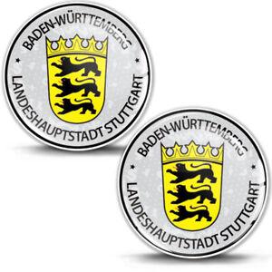 3D Gel Domed Stickers Badge Baden-Württemberg Stadt German Number Plate Seal