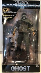McFarlane Toys Call of Duty Modern Warfare Ghost Figure with In Game Content
