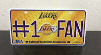 Los Angeles Lakers #1 Fan Metal Tag Aluminum Novelty License Plate Basketball