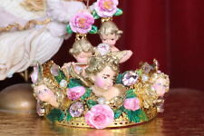 Zibellini Baroque Chubby Cherub Angel Roses Headband Crown