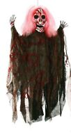 "36"" Halloween Hanging Bloody Skull Reaper Prop Light Up Decor Decoration NEW"