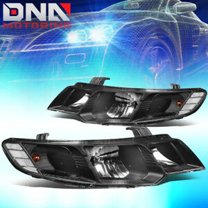 FOR 2010-2013 KIA FORTE BLACK HOUSING CLEAR CORNER HEADLIGHT/LAMPS REPLACEMENT