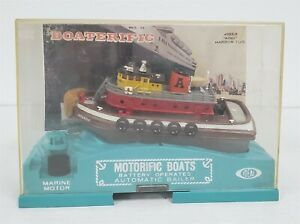 F31 VINTAGE 1960'S IDEAL MOTORIFIC ATLAS HARBOR TUG WITH MOTOR AND CASE