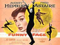 MOVIE FILM FUNNY FACE HEPBURN ASTAIRE DANCE COMEDY ART PRINT POSTER BB7490