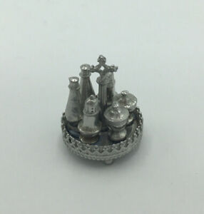 Dolls House Silver Cruet Set