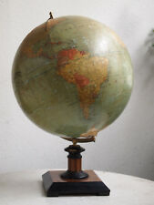 Rarity ++ Dietrich Reimers world globe, Berlin 1927 with colonies +art deco base