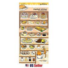 Sanrio Gudetama Lazy Egg Epoxy Puffy 3D Stickers : Gudetama in a Market