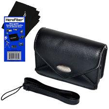 Nikon Leather Like Camera Case w/Strap +HeroFiber f/Coolpix S6300, S6800 & S7000