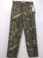 NWT MOSSY OAK CAMO PANTS Men's Size 32X32 Hunting 5-Pocket Braided River Jeans
