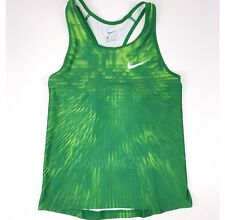 New Nike Race Day Running Singlet Women's M Green Training Tight Tank Top 835981