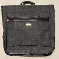 Saks Fifth Avenue VTG Navy Blue Luggage Garment Bag Travel Cruise Fly