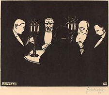 Felix Vallotton Reproductions: Le Poker - Fine Art Print