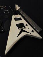 HSFV 1950BH Complete No-Soldering V Shape Body Electric Guitar DIY,H-H Pickups