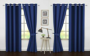 "Blackout Curtains Grommet Window 4 Panel by Ample Decor (46"" X 63""/84""/95"")"