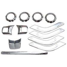 12Pcs/Set Interior Parts Trims For Jeep Wrangler JK Unlimited Accessories Silver