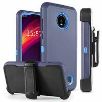 For Motorola Moto Z4 / Z4 Play Case Shockproof Stand Armor Cover With Belt Clip