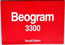 Bang & Olufsen BEOGRAM 3300, Manual  (B&O). 12 pages.( Record Deck)