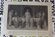 Ancienne Gravure ésotérisme Prêtre Graal coupe Christ Templiers Jésus Communion