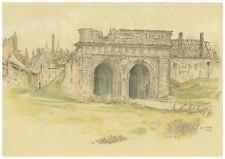 """Royal Artillery - Arras """"La Porte Baudimont"""" - Vintage Print/Book Plate"""