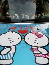 HELLO KITTY AND DANIEL KISSING CAR DECAL GRAPHIC VINYL HOOD OR SIDE