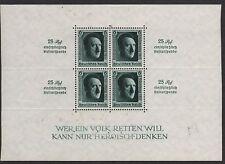 GERMANY STAMP #B106 SOUVENIR SHEET with INSCRIPTIONS & OVERPRINT  1937  MINT