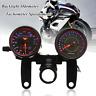 Universal Motorcycle LED Dual Backlight Odometer Tachometer Speedometer Gauge