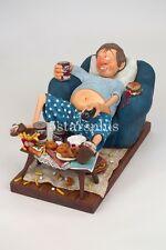 """Large Guillermo Forchino Comic The Couch Potato 15"""" Figurine Sculpture Statue"""