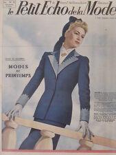 Le Petit Echo de la Mode N° 10  du 09/03/1941 Art Déco Journal Naissance