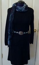 NWT SzSmall JJILL Black Sweater Knit DRESS - Comfy, Warm, & Stylish - Orig.$119!