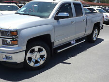 "2014-2017 Chevrolet Silverado GMC Sierra GM OEM 6"" Rect Chrome Assist Steps NEW"