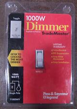 1000 watt TRADEMASTER DIMMER BY PASS & SEYMOUR LEGRAND