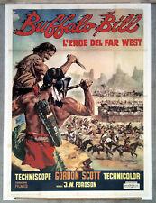 A5 BUFFALO BILL L'EROE DEL FAR WEST manifesto poster Scott Western Indiani 1965