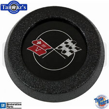 69-75 Corvette W/O Tilt /Tele Steering Wheel Horn Cap Button WHT Flag Start  USA