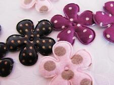 60 Polka Dots Fabric Print Flower Mix Applique/bow/trim/pink/black/purple H212
