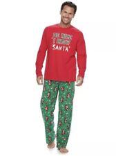 Jammies for Your Families Men 2 Pc Christmas Pajama Set Top   Santa Bottom  L  40 2722627a5
