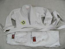 Schlüsselanhänger Gürtel weiß bis schwarz mit gesticktem Ju-Jutsu-Zeichen gold