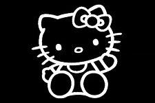 Hello Kitty Spiegel Auto Aufkleber Sticker 10cm x 10cm Fun Tankdeckel