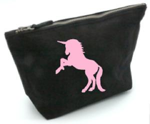 unicorn, bag, gift, cosmetics,make up, toiletries, medium, birthday personalise