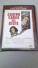 """DVD """"CUATRO CARAS DEL OESTE"""" PRECINTADA ALFRED GREEN JOEL McCREA FRANCES DEE"""