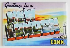 "Greetings from New London Connecticut Fridge Magnet travel souvenir ""style A"""