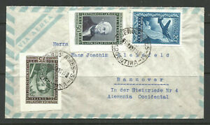 OSBURGH - ARGENTINA / GERMANY. 1953. IMPERFS ON AIR MAIL COVER TO HANNOVER.