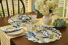 Buttercup Cotton Round Placemat ~ Quilted