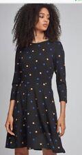 Dorothy Perkins - Black Spot Jersey Dress - Size 10 - BNWT