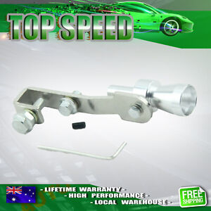 Turbo Sound Whistle Exhaust Muffler Pipe Simulat Blow Off Valve Silver Fake S