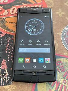 "Vertu Signature Touch 4.7"" Black PVD Black Calf Leather Global GSM Luxury Phone"