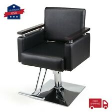 PU Hydraulic Barber Chair Wide Styling Salon Chair All Purpose Beauty Equipment