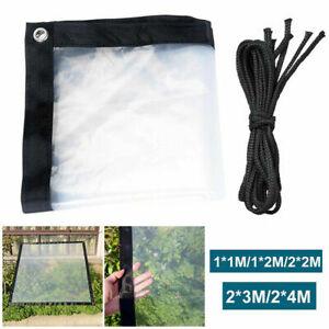 Heavy Duty Glass Clear Plant Waterproof PE Tarpaulin Animal Stall Cover Sheets