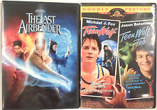 2 DVD Lot Set 3 Movies Teen Wolf Teen Wolf Too The Last Airbender